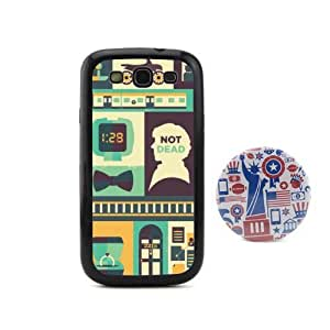 Euclid+ -His Last Vow Cartoon Sherlock Holmes Embossed Design Style Plastic+pc hard Case Cover for Samsung Galaxy S3 SIII I9300 with American Style 2.3'