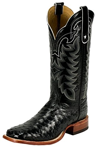 Tony Lama 9090 Men's 13-in Full Quill Ostrich Boot Black 11 EE US
