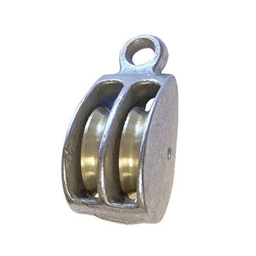 "Rigid Eye Double Wheel Pulley – 2"" Sheave Height – Single Pack"
