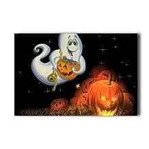 20X30 Inch Poster Halloween Night Pumpkin Ghost Halloween Wall Sticker