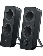 Logitech Z207 Bluetooth® Computer Speakers, Głośniki Komputerowe, Bluetooth, Pc/Mac/Tablet/Smartphone - Czarny,980-001295