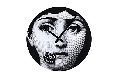 Stilnovo Mid Century Girl Barcelona Wall Clock, Black/White