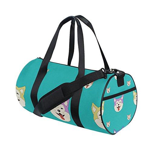 Bag Adjustable Strap Gym Tote Sports Bag Carry on Akita ()