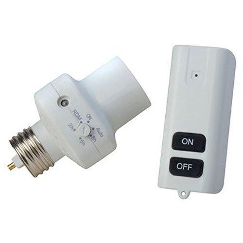 Woods 59415 Indoor Screw-In Light Socket Screw-In w/ Wireless Remote Control & Programmable Timer, Energy Savings
