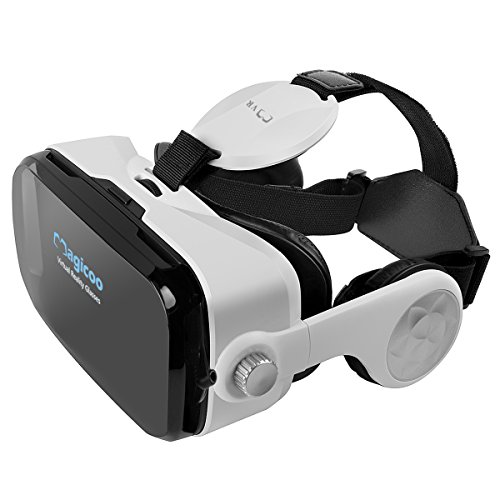 Magicoo 3D VR Box, Video Glasses Support iphone Samsung LG and Other Smart Phones with Headphone for Immersive Movies and Games
