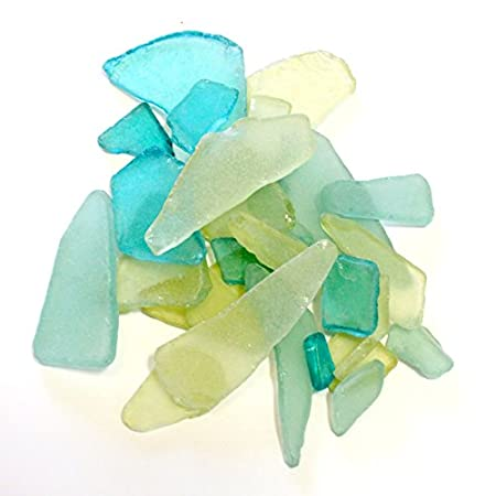 Blue, yellow and clear sea glass is available at AMAZON