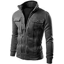 Goddessvan Mens Jacket, 2017 Men Fashion Slim Designed Lapel Cardigan Coat Jacket Outwear