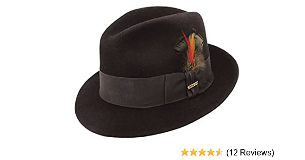 f2a45efac5ae3 Stetson Frederick Wool Felt Fedora at Amazon Men s Clothing store
