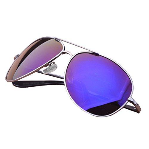 de Driving Sunglasses Aviateur Lentille Soleil LINNUO Femmes Classique 1bleu UV Polarisées Protection Hommes Eyewear Lunettes 57qxOZB