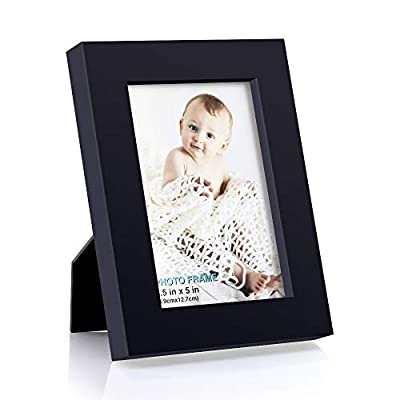 RPJC 3.5x5 inch Picture Frame Made of Solid Wood High Definition Glass for Table Top Display and Wall Mounting Photo Frame
