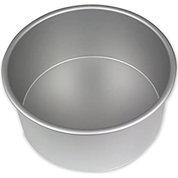 "PME RND084 Round Seamless Professional Aluminum Baking Pan, 8"" x 4"", Silver"