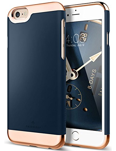 Caseology Savoy for iPhone 6S Plus Case (2015) / iPhone 6 Plus Case (2014) - Stylish Design - Navy Blue