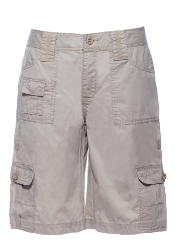 Apt.9 Ladies/Women's 100% Cotton Summer Cargo Knee-length Shorts Beige 8 from Apt 9