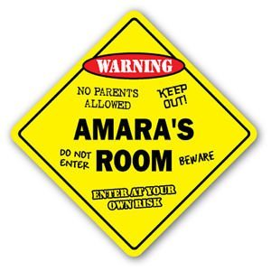 - AMARA'S ROOM Sticker Sign kids bedroom decor door children's name boy girl gift - Sticker Graphic Personalized Custom Sticker Graphic
