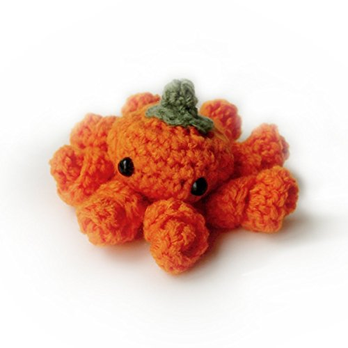 Fun Homemade Crafts For Halloween (Amigurumi toy handmade crochet mutant pumpkin octopus - Halloween decoration)