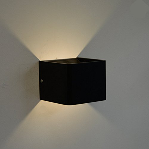 elegantstunning Simple Modern Square LED Wall Lamp Creative Stylish Aluminum Cube Indoor Lighting Lamp Bedroom Sanctum Aisle Stair Lighting by elegantstunning