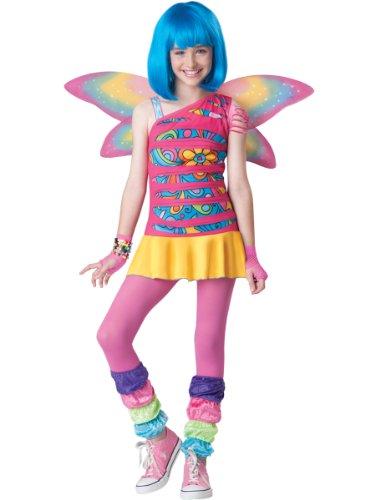 InCharacter Costumes Tween Rainbow Fairy Costume, Rainbow Colored, Large (Rainbow Fairy Costume)