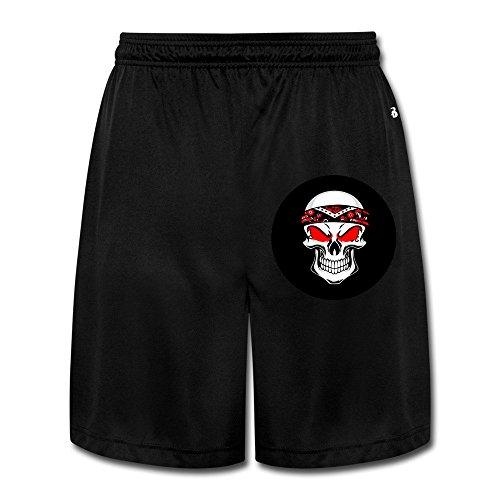 Price comparison product image POPYol Men's Biker Skull Performance Shorts Sweatpants
