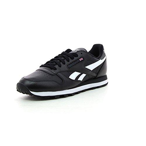 Reebok Classic Leather Pop SC M45710 Sneaker in bianco e nero