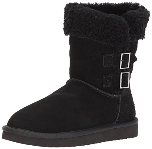 Koolaburra by UGG Women's Sulana Short Fashion Boot, Black, 8 M (Faux Ugg Boots)