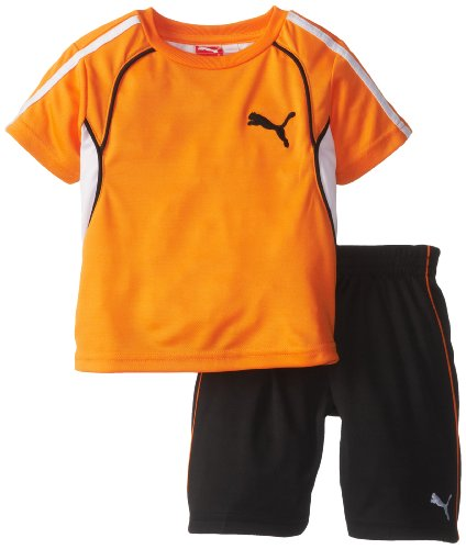 Puma Little Boys Boy 48 Perf Set Vibrant Orange