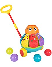Playgro Push Along Ball Popping Octopus Baby Toy