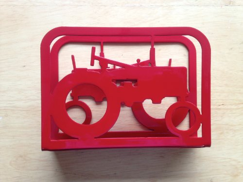 Napkin Holder with Two Tractors (O18)