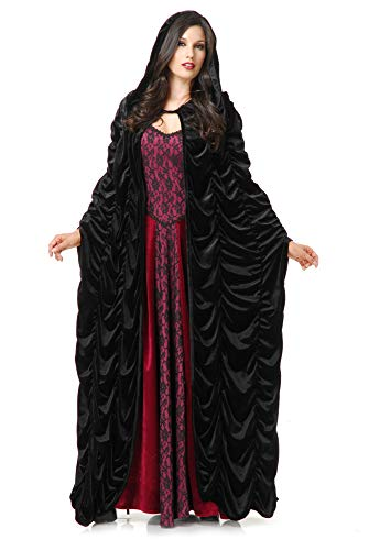 Charades Unisex-Adult's Coffin Cloak, Black One Size