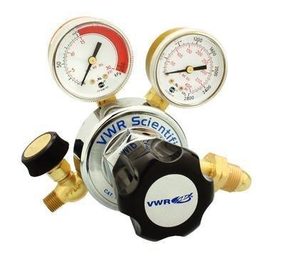 VWR 55850-205 Heavy Duty Single-Stage for Helium Regulators, 5640 CFH Flow Capacity (Pack of 1)