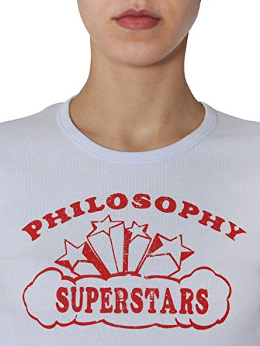 Femme Blanc T Coton Philosophy 070407460291 shirt qY7nFp1w