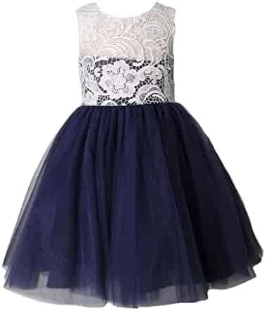 6128c6f3c23 Thstylee Lace Tulle Flower Girl Dress Little Girl Toddler Kids Wedding  Dresses