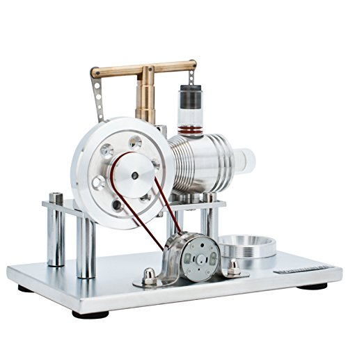 DjuiinoStar Super Stable Hot Air Stirling Engine(Solid Metal Construction), Electricity Generator(Light up LED), Ready to Run by DjuiinoStar (Image #6)