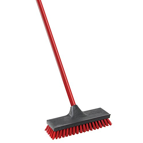 Red Black Handles - Libman Commercial 547 Floor Scrub, Steel Handle, 10.5