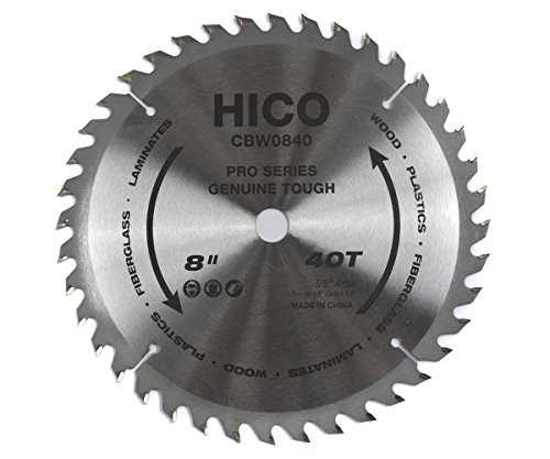 UPC 705554135290, HICO CBW0840 8-Inch 40-Tooth ATB Thin Kerf General Purpose Saw Blade with 5/8-Inch Arbor and Anti-Corrosive Coating
