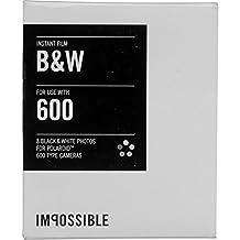 Impossible Instant Film for Polaroid 600 Cameras, Black/White (PRD3834)