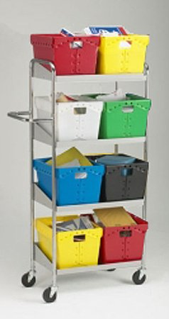 Charnstrom Medium Four Shelf Mobile Cart, Totes Not Included (B161) by Charnstrom