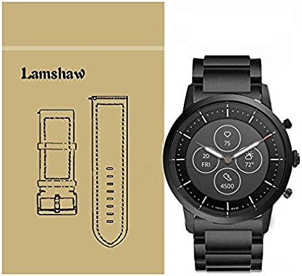 For Fossil Collider Hr Band Blueshaw Stainless Steel Metal Replacement Straps For Fossil Hybrid Smartwatch Hr Collider Fossil Collider Hybrid Smartwatch Black Buy Online At Best Price In Ksa Souq Is Now