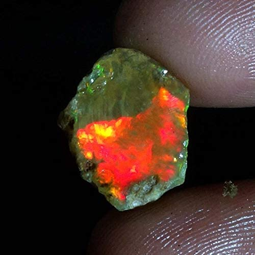 Ethiopian Opal Rough Stone Fire Opal Rough Slice Ethiopian Opal Gemstone Slices Ethiopian Opal Hammered Rough Slice #1594 9-9.5 MM