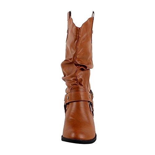 Nieuwste Hete Mode Mid Kalf Vrouwen Dev-1 Koe Jongen Westerse Slauchy Casual Dikke Hak Schoen Schoenen Tijanding