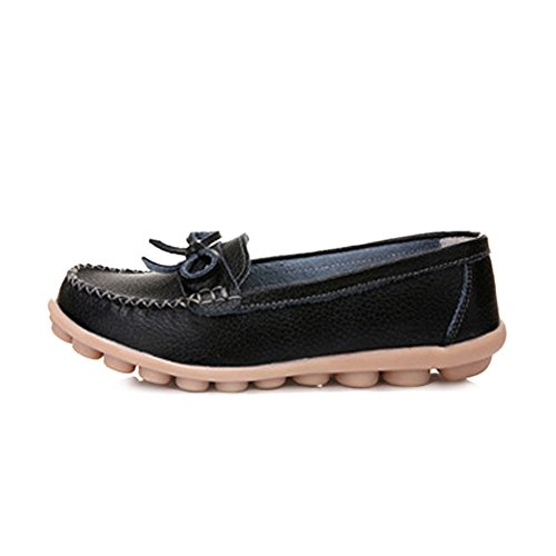 Womens Walking Shoes Leather Loafer Blivener Comfort Black Casual Blivener Womens EqwAWxCOT