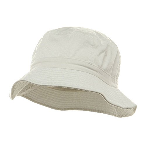 Pigment Dyed Bucket Hat-White W12S43E - Size: M/L Adult Bucket Hat