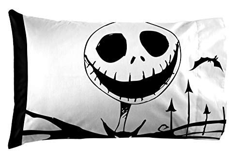 (Jay Franco Nightmare Before Christmas Together 1 Pack Pillowcase - Double-Sided Kids Super Soft Bedding (Official)