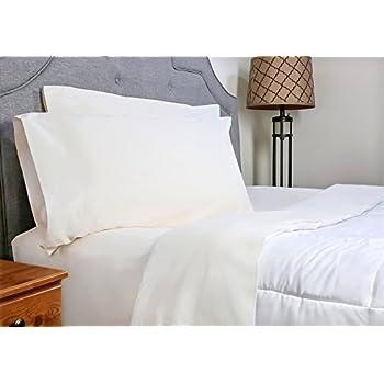 whisper organics gots certified organic 200 thread count soft cotton queen bed sheet set white - Queen Bed Sheets