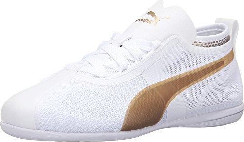 PUMA Women's Eskiva Low EVO Puma White/Gold Sneaker 10.5 B (M)