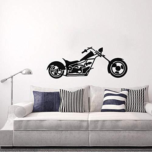 HUAIyinSTOAM 60CM23CM Interesting Coolest Motorcycle Decor Wall Sticker PVC Kitchen and Gym Boys Kids Room C2 ()