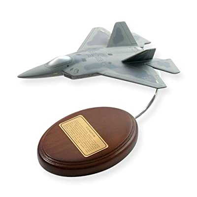 F-22 Raptor Fighter Desktop Aircraft - Painted Scale Replica Model - Retirement Air Force Gifts