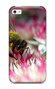 For Iphone 5c Premium Tpu Case Cover Bee On Autumns Joy Protective Case