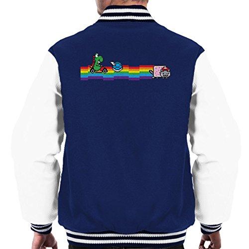 Jacket white Nyankart Yoshi Varsity Navy Men's Mario WngpHAZa