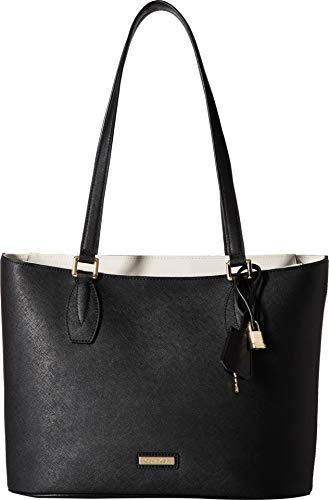 Calvin Klein Brooke Key Item Saffiano Tote Bag, BLK/WHT, One