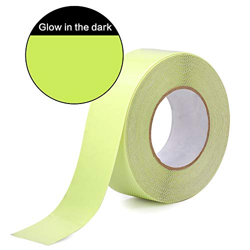 Anti Slip Stair Treads Tape, Glow Non-Slip Safety Tape in The Dark - 2 Inches Wide by 32.8 Feet Long Indoor Outdoor Anti Slip Adhesive Grip for Stairs and Slippery Surface